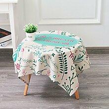 Küche Tischdecke Leinen Tischdecke, runder Tisch Rechteck Tischtuch Tischdecke Couchtisch Abdeckung Stoff Dicker Ländliches Tuch ( Farbe : 3# , größe : 140*140CM )