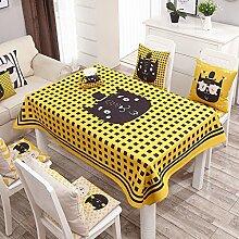 Küche Tischdecke Leinen Tischdecke, runder Tisch Tischdecke Anti-hot Couchtisch Rechteck Tischdecke Restaurant Tischdecke ( Farbe : 3# , größe : 100*140CM )