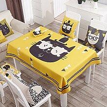 Küche Tischdecke Leinen Tischdecke, runder Tisch Tischdecke Anti-hot Couchtisch Rechteck Tischdecke Restaurant Tischdecke ( Farbe : 5# , größe : 140*200CM )