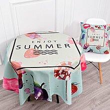 Küche Tischdecke Leinen Tischdecke, Staub Tuch Kleine runde Tisch Rechteck Tisch Tuch Abdeckung Stoff Couchtisch Tuch ( Farbe : 3# , größe : 140*140CM )