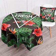 Küche Tischdecke Leinen Tischdecke, Staub Tuch Kleine runde Tisch Rechteck Tisch Tuch Abdeckung Stoff Couchtisch Tuch ( Farbe : 5# , größe : 85*85CM )