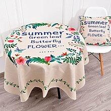 Küche Tischdecke Leinen Tischdecke, Staub Tuch Kleine runde Tisch Rechteck Tisch Tuch Abdeckung Stoff Couchtisch Tuch ( Farbe : 2# , größe : 100*140CM )