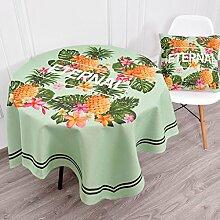 Küche Tischdecke Leinen Tischdecke, Staub Tuch Kleine runde Tisch Rechteck Tisch Tuch Abdeckung Stoff Couchtisch Tuch ( Farbe : 5# , größe : 140*180CM )