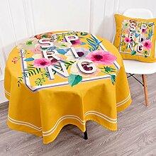 Küche Tischdecke Leinen Tischdecke, Staub Tuch Kleine runde Tisch Rechteck Tisch Tuch Abdeckung Stoff Couchtisch Tuch ( Farbe : 2# , größe : 140*230CM )