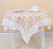 Küche Tischdecke Microwelle Ofen Staubtuch Home Verschiedene Größen,Pink-90*90CM