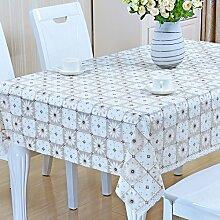Küche Tischdecke Nappes En Plastique PVC Nappes De Tisch Nappes Imperméables Anti - Hot - Öl - Laver Les Nappes ( Farbe : B , größe : 137*137CM )