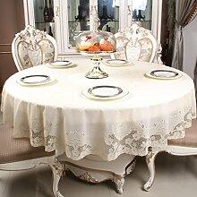 Küche Tischdecke PVC runde Tischdecke, Gold und Silber Druck Runde Kaffeetisch Tischdecke 180cm ( Farbe : C , größe : Round-180cm )