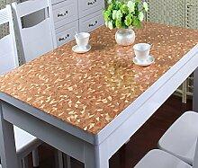 Küche Tischdecke PVC-wasserdichte Tischdecke Anti-heiße weiche Glas-Tischdecke Plastik Tischdecke-Tischauflage-Auflage-transparente wolkige Kristall-Platte ( größe : 80*135cm )