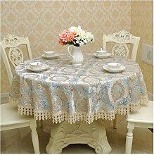 Küche Tischdecke Runde Tischdecke, Leinen Tischdecke Startseite Runde Tisch Tischdecke Restaurant Couchtisch Tuch Tisch ( Farbe : B , größe : Round-150cm )