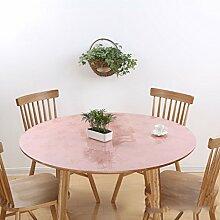 Küche Tischdecke Runde Tischdecke, wasserdichte Tischmatte Runde Kristallplatte PVC Tischdecke 1MM ( Farbe : B , größe : Round-80cm )