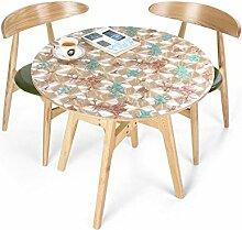 Küche Tischdecke Runder Tischtuch, Plastik-Tischtuch Troubles ölbeständiger / wasserdichter Fleck-beständiger / schimmel-sicherer PVC-Tischtuch 0.8MM ( größe : Round-90cm )