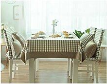 Küche Tischdecke Tischdecke Rectangle, Ländliche Leinsamen Tuch Tuch Tuch Couchtisch Kleine runde Tisch Tischdecke ( Farbe : 3# , größe : 140*200CM )