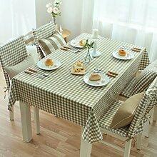 Küche Tischdecke Tischdecke Rectangle, Ländliche Leinsamen Tuch Tuch Tuch Couchtisch Kleine runde Tisch Tischdecke ( Farbe : 2# , größe : 90*145CM )