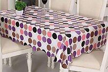 Küche Tischdecke Tischtuch wasserdicht und ölbeständig Gewebe Einweg Plastik Tischdecke PVC Tischplatte Tisch Tuch Öl ( größe : 152*210cm )