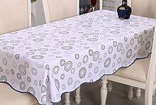 Küche Tischdecke Tischtuch wasserdicht und ölbeständig Gewebe Einweg Plastik Tischdecke PVC Tischplatte Tisch Tuch Öl ( größe : 137*183cm )