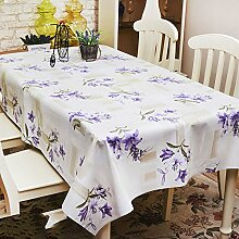 Küche Tischdecke Wasserdichte Tischdecke PVC Tischdecken nicht waschen Tisch Matten Kaffeetisch Tuch Tisch Tee Tischdecke Kunststoff Tuch ( Farbe : D , größe : 137*182cm )