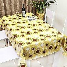 Küche Tischdecke Wasserdichte Tischdecke PVC Tischdecken Nicht waschen Tischmatten Kaffee Tischdecke Tisch Tee Tischtuch Kunststofftuch ( Farbe : B , größe : 137*137cm )