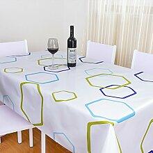 Küche Tischdecke Wasserdichte Tischdecke PVC Tischdecken Nicht waschen Tischmatten Kaffeetisch Tisch Tisch Tisch Tisch Tisch Plüsch Stoff ( Farbe : E , größe : 137*200cm )