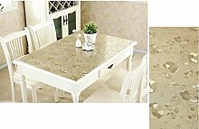Küche Tischdecke Weiche Glas Tischdecken Transparente PVC Wasserdicht Anti - Hot - Öl - Free Waschbare Tischdecken Tischdecken Wasserdichte Tisch Matten ( größe : 80*120cm )
