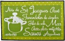 Küche Trend, Spielteppich, mit Rezept Nüsse im Ruhezustand Saint-Jacques 45 x 75 cm