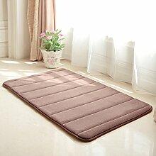 Küche und Toilette Wasser rutschfeste Badematte/Fußmatte/Fußmatten/Schlafzimmer Nachttisch Matten-H 40x120cm(16x47inch)
