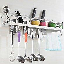 Küche Und Wc Regal, Küche Anhänger, Hängende Rack, Hängende Werkzeugablage, Raum Küche Aus Aluminium Rack, An Der Wand Hängenden, Silbrig, 60 Cm