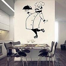 Küche Vinyl Wandkunst Aufkleber Chef De Cuisine