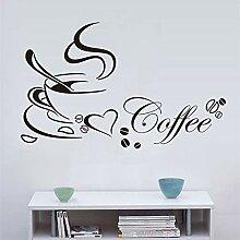 Küche Wandaufkleber Kaffee Aufkleber Kaffeetasse