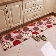 Küche Wasserabsorbierenden Matten/Linear Schiebe-fußmatten/Balkon Bodenmatte/Tür Matten In Der Halle/Wohn-/Schlafzimmer Bett Decke-B 45x240cm(18x94inch)