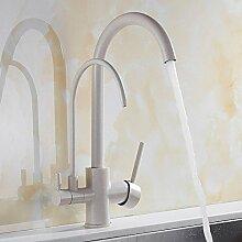 Küche Wasserhähne Wasserfilter 360 ° Schwenk Messing Schwarz Spültischarmatur Wasserhahn Dual Hebel Passend TTS Für Haushalt, Bar, Restaurant Etc,Granite