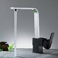 Küche Wasserhahn-Contemporary-Wasserfall-Brass(Nickel Polished)