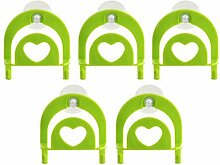 Küche Werkzeuge & Gadgets Haken Sucker Küche Organisator Satz von 5-Grün