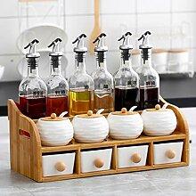 Küche Würzen Glas Gewürz Box Set Glas