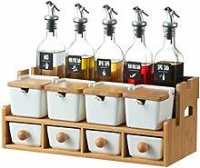 Küche Würzen Salz Glas Keramik Gewürz Box