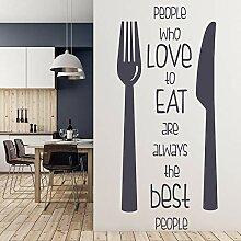 Küche Zitat Wandtattoos Paar Schriftzug Türen