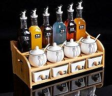 Küche Zubehör Würzen Storage Box Set Keramik
