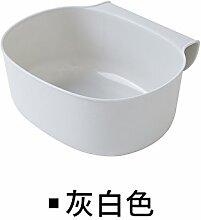 Küchen-Abfalleimer Xiuxiutian Es gibt keine Abdeckung Kunststoff Küche Schranktür Mülleimer 21 * 18 * 9 cm, Hellgrau