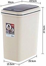 Küchen-Abfalleimer XiuxiutianDrücken Sie die Mülleimer Haushalt Mülltonnen Gäste Schlafzimmer Küche wc groß, 15 L