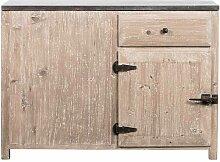 Küchen Anrichte aus Kiefer Massivholz Antik Finish