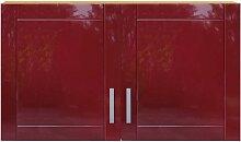 Küchen Doppelschrank in Rot