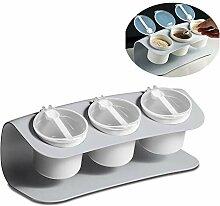 Küchen Gewürzregal Set, Mit 3 Gewürzgläsern, 3