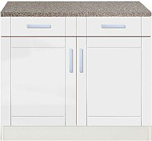 Küchen-Unterschrank in Weiß