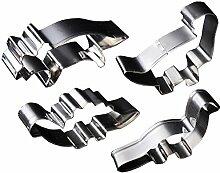 Küchen Werkzeuge & Gadgets Edelstahl Backen Werkzeuge Backen Form Teig Scherblock Dinosaurier Geformtes Form Satz von 4