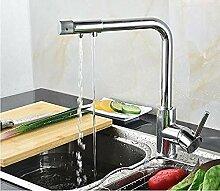 Küchenarmatur 3-Wege-Griff einzigen