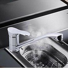 Küchenarmatur 360 drehbar weiß Mischbatterie
