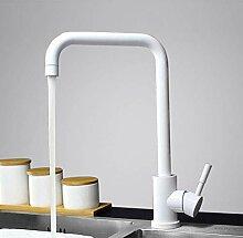 Küchenarmatur 360 drehen weiß Mischbatterie für
