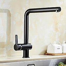 Küchenarmatur 360 Rotate Black Mixer Wasserhahn