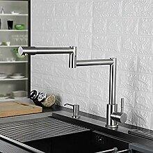 Küchenarmatur 720 Grad Swivel Edelstahl/Chrom