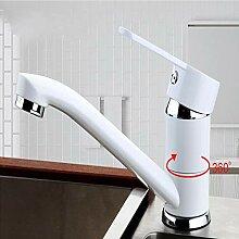 Küchenarmatur aus Edelstahl mit heißem und