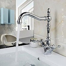 Küchenarmatur Badarmatur aus poliertem Chrom